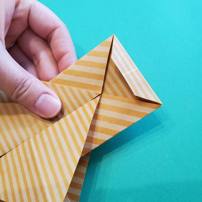 朝顔の折り紙の壁画フレームの作り方②フレーム(31)