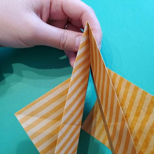 朝顔の折り紙の壁画フレームの作り方②フレーム(32)