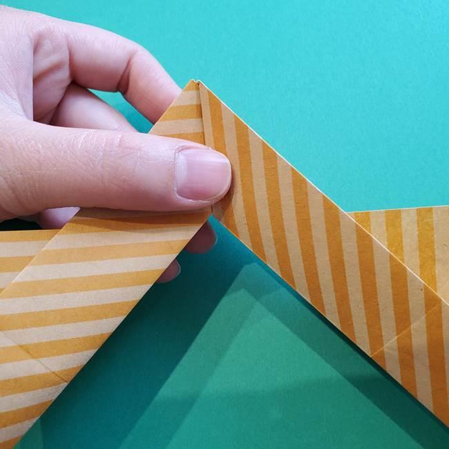 朝顔の折り紙の壁画フレームの作り方②フレーム(33)