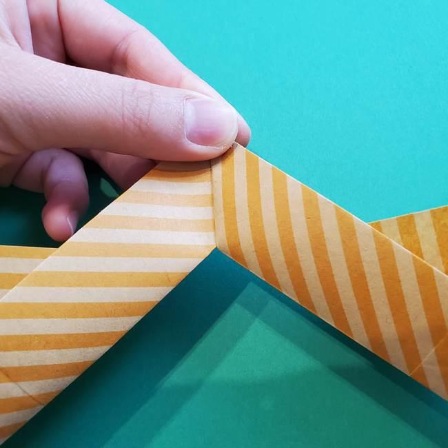 朝顔の折り紙の壁画フレームの作り方②フレーム(34)