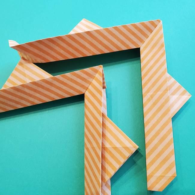 朝顔の折り紙の壁画フレームの作り方②フレーム(35)