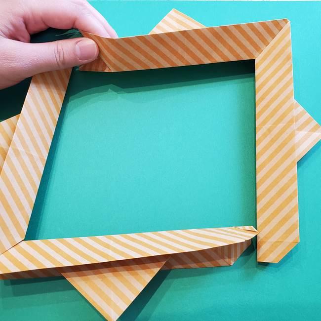 朝顔の折り紙の壁画フレームの作り方②フレーム(36)