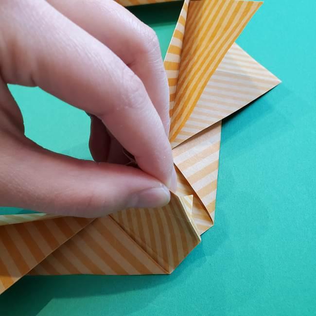 朝顔の折り紙の壁画フレームの作り方②フレーム(37)