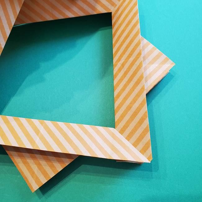 朝顔の折り紙の壁画フレームの作り方②フレーム(38)