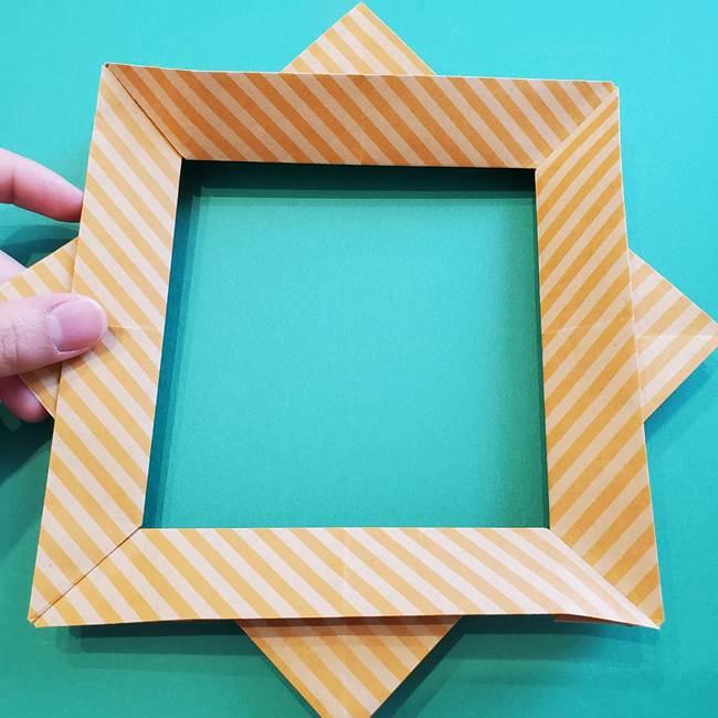 朝顔の折り紙の壁画フレームの作り方②フレーム(39)