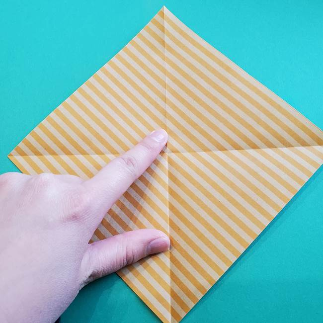 朝顔の折り紙の壁画フレームの作り方②フレーム(4)