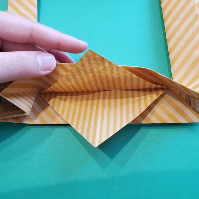 朝顔の折り紙の壁画フレームの作り方②フレーム(40)
