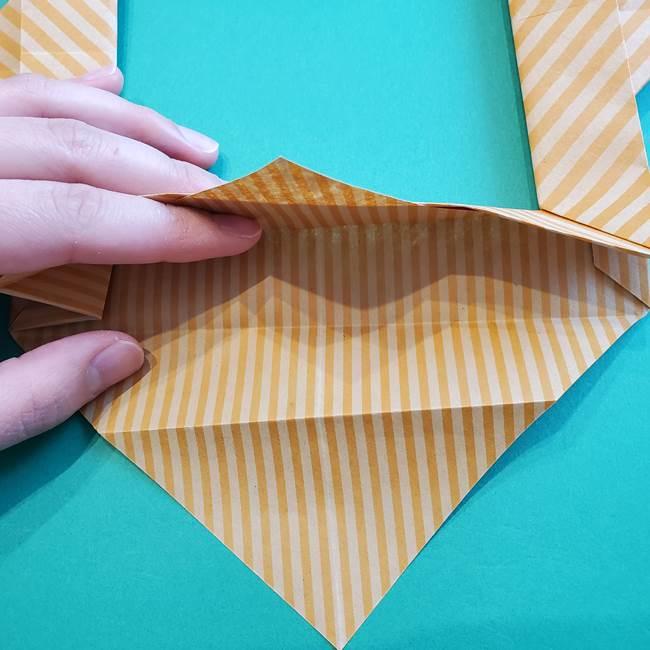 朝顔の折り紙の壁画フレームの作り方②フレーム(41)