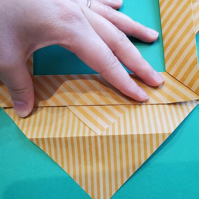 朝顔の折り紙の壁画フレームの作り方②フレーム(42)