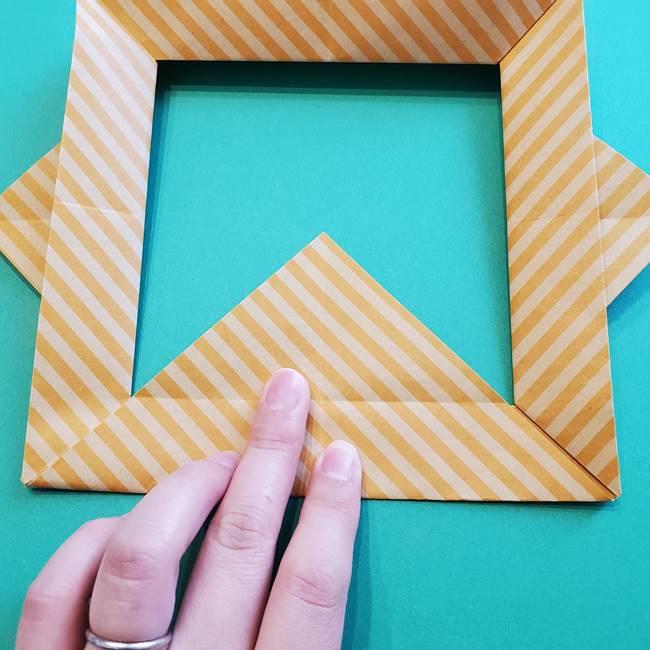 朝顔の折り紙の壁画フレームの作り方②フレーム(43)