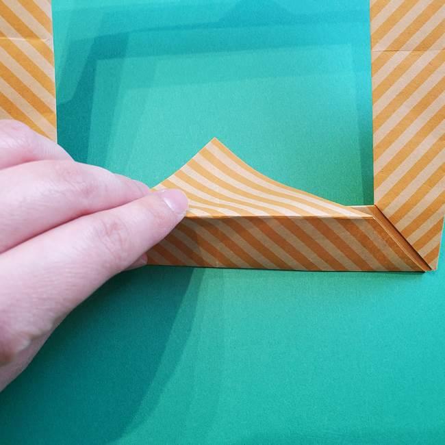 朝顔の折り紙の壁画フレームの作り方②フレーム(44)