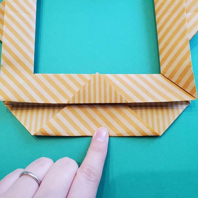 朝顔の折り紙の壁画フレームの作り方②フレーム(45)