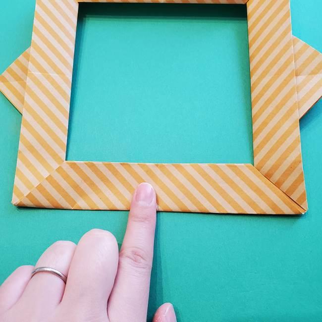 朝顔の折り紙の壁画フレームの作り方②フレーム(46)