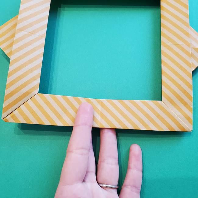 朝顔の折り紙の壁画フレームの作り方②フレーム(47)