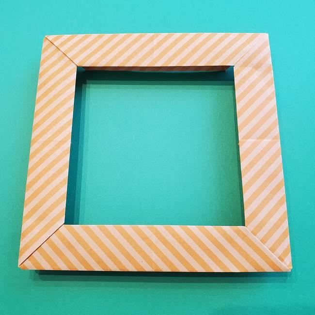 朝顔の折り紙の壁画フレームの作り方②フレーム(48)