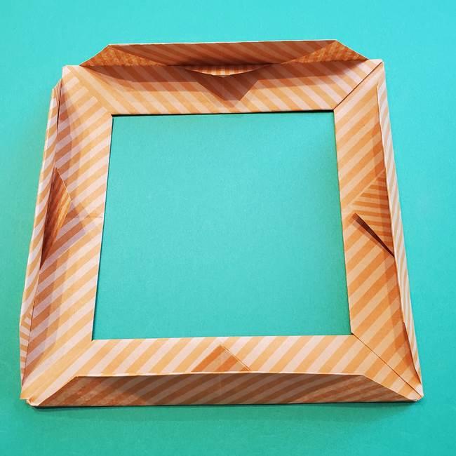 朝顔の折り紙の壁画フレームの作り方②フレーム(49)