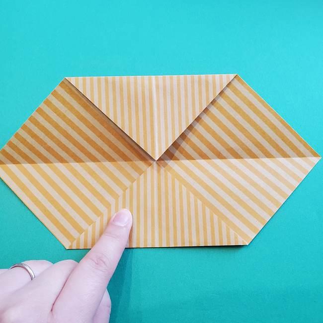朝顔の折り紙の壁画フレームの作り方②フレーム(5)