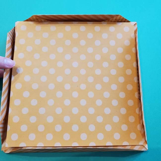 朝顔の折り紙の壁画フレームの作り方②フレーム(50)