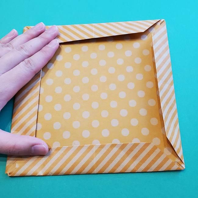 朝顔の折り紙の壁画フレームの作り方②フレーム(51)