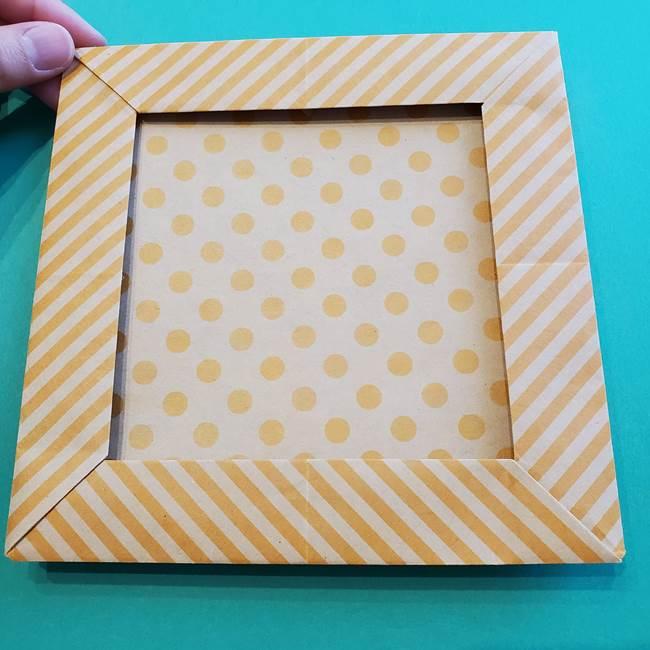 朝顔の折り紙の壁画フレームの作り方②フレーム(52)