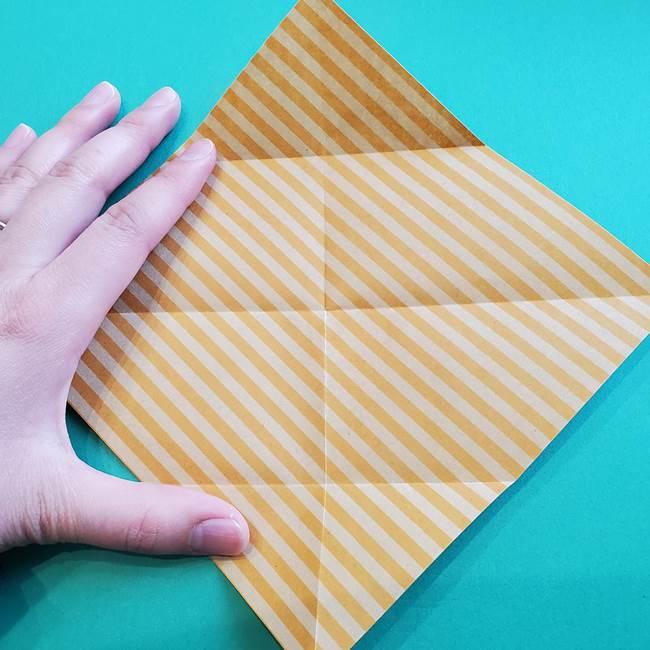 朝顔の折り紙の壁画フレームの作り方②フレーム(6)