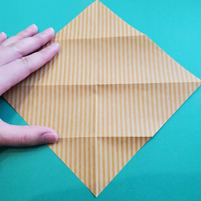 朝顔の折り紙の壁画フレームの作り方②フレーム(7)