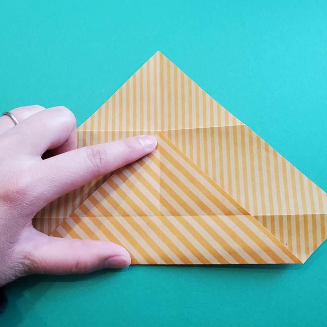 朝顔の折り紙の壁画フレームの作り方②フレーム(8)