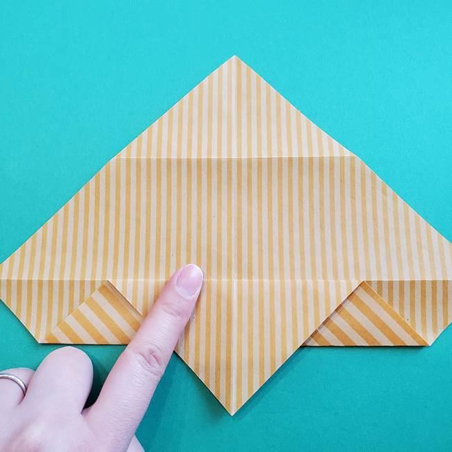 朝顔の折り紙の壁画フレームの作り方②フレーム(9)