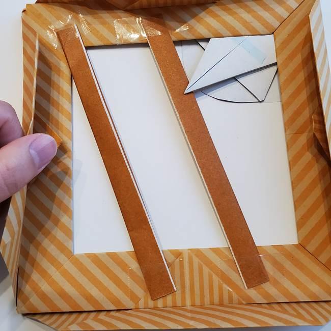 朝顔の折り紙の壁画フレームの作り方③飾り方(1)