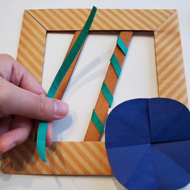 朝顔の折り紙の壁画フレームの作り方③飾り方(3)