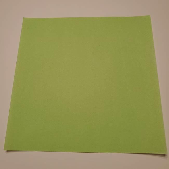 朝顔の折り紙 リースの作り方折り方①土台(1)