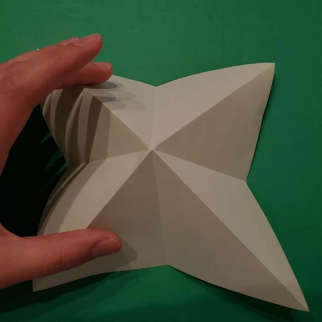 朝顔の折り紙 リースの作り方折り方①土台(10)