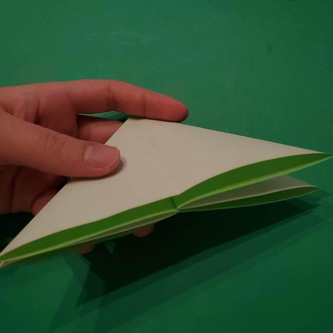 朝顔の折り紙 リースの作り方折り方①土台(11)