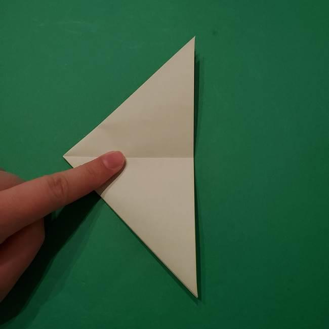 朝顔の折り紙 リースの作り方折り方①土台(12)