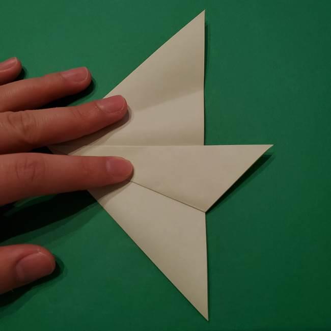 朝顔の折り紙 リースの作り方折り方①土台(13)
