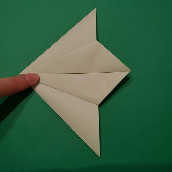 朝顔の折り紙 リースの作り方折り方①土台(14)