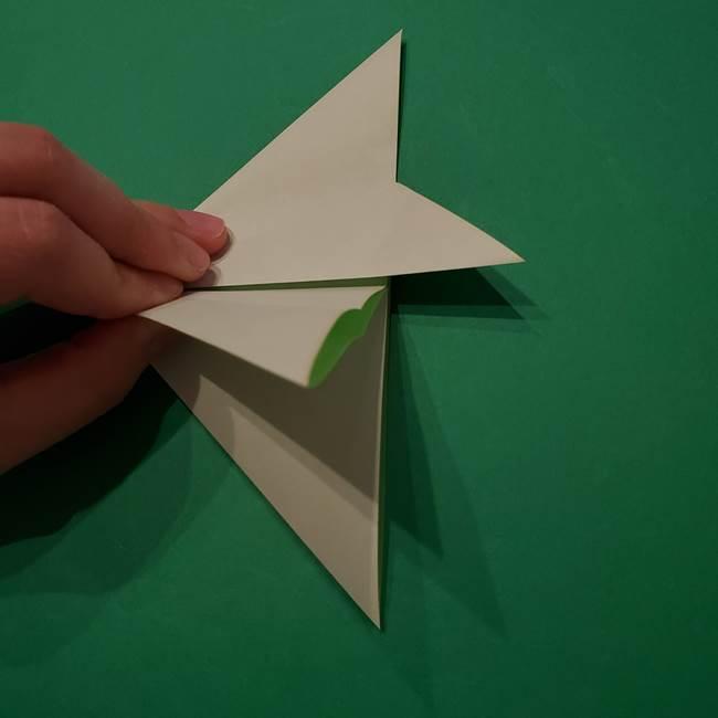 朝顔の折り紙 リースの作り方折り方①土台(15)