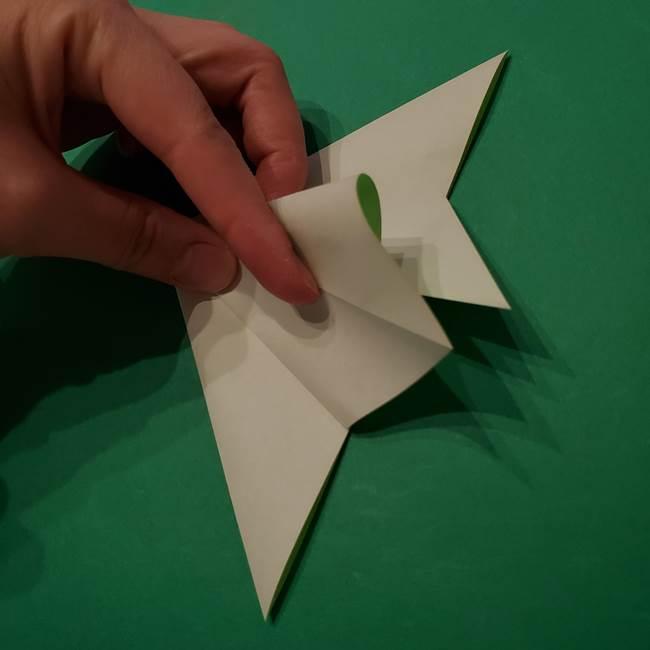 朝顔の折り紙 リースの作り方折り方①土台(17)