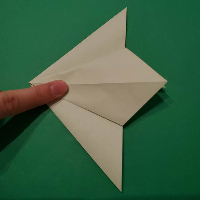 朝顔の折り紙 リースの作り方折り方①土台(18)