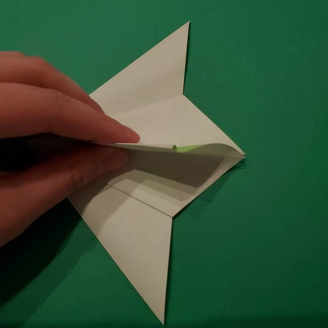 朝顔の折り紙 リースの作り方折り方①土台(19)