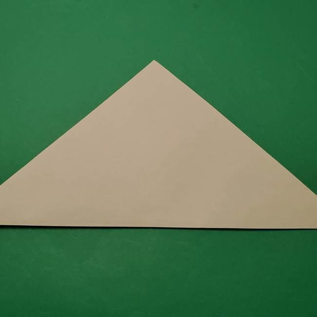 朝顔の折り紙 リースの作り方折り方①土台(2)