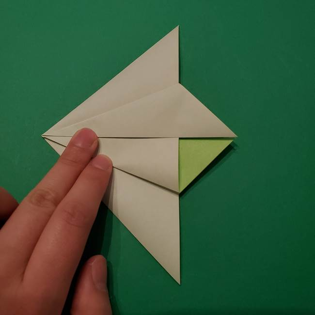 朝顔の折り紙 リースの作り方折り方①土台(20)