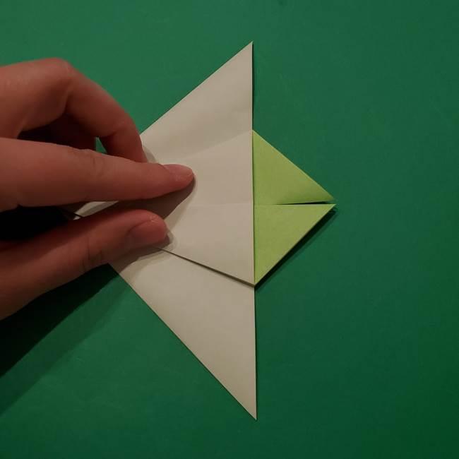 朝顔の折り紙 リースの作り方折り方①土台(21)