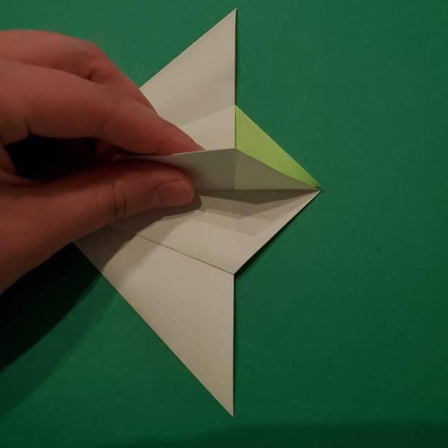 朝顔の折り紙 リースの作り方折り方①土台(22)