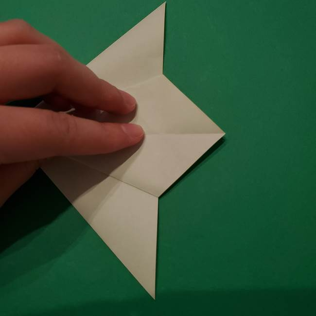 朝顔の折り紙 リースの作り方折り方①土台(23)