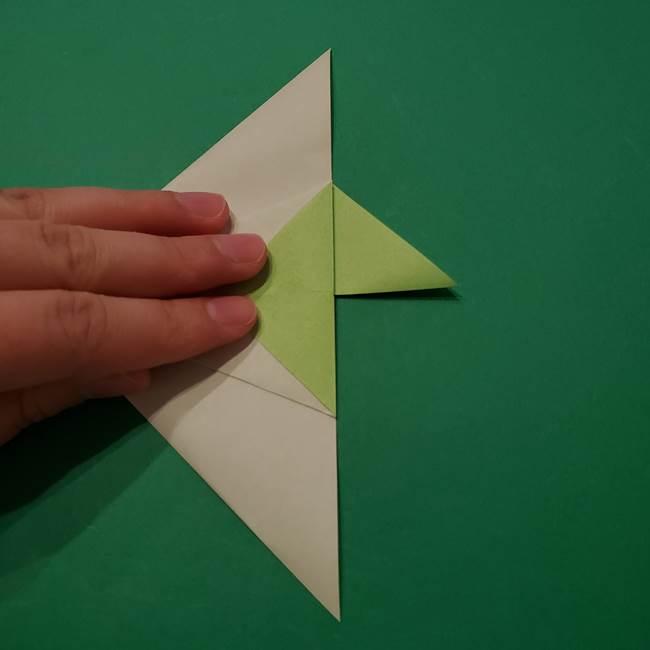 朝顔の折り紙 リースの作り方折り方①土台(24)
