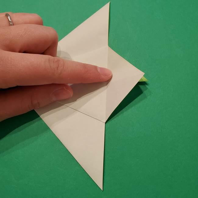 朝顔の折り紙 リースの作り方折り方①土台(25)