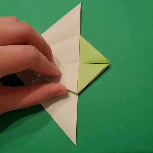 朝顔の折り紙 リースの作り方折り方①土台(26)