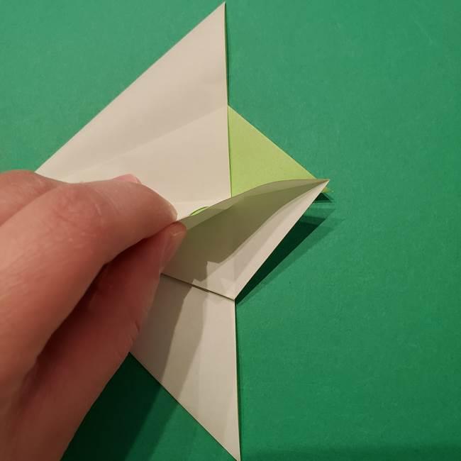 朝顔の折り紙 リースの作り方折り方①土台(27)