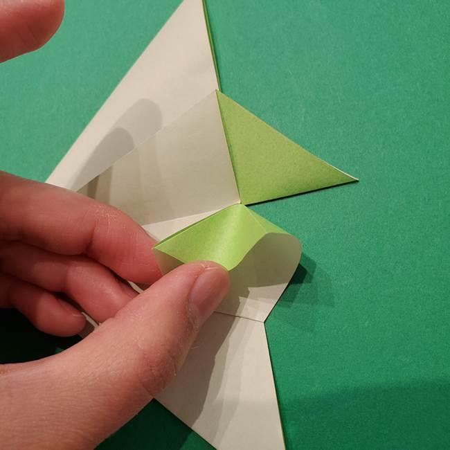 朝顔の折り紙 リースの作り方折り方①土台(28)